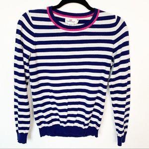 Vineyard Vines Navy Striped Sweater Small